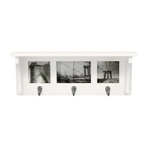 Nexxt Designs Riley Wall Shelf and Picture Collage with 3 Hooks