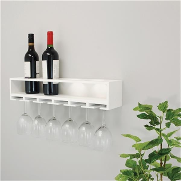 Nexxt Designs FN0039 Claret Wine Bottle and Glass Holder Wall