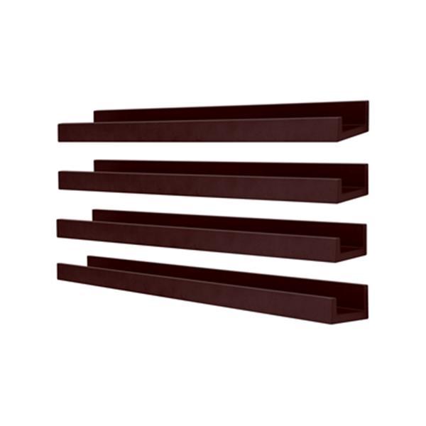 Nexxt Design 23-in x 4-in Espresso Edge Picture Frame Ledge Shelf (Set of 4)