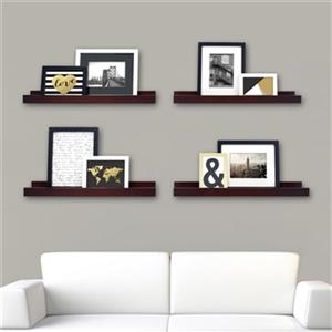 Nexxt Design 23-in x 4-in Espresso Edge Picture Frame Ledge Shelf (Set of 4)