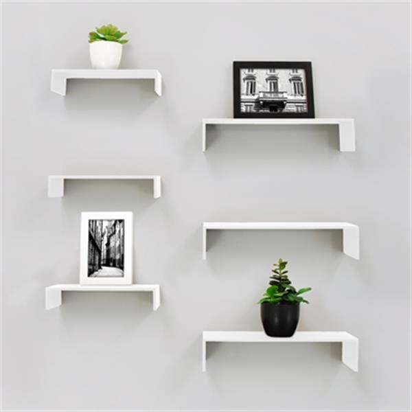 Nexxt Design White Extense Wall Shelves (6 Pack)