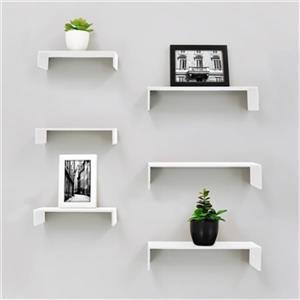 Nexxt Design White Extense Wall Shelves (6 Pack)