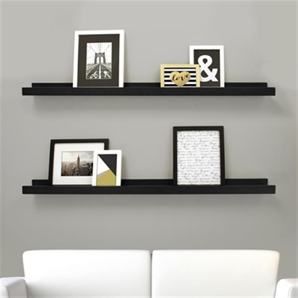 Kiera Grace Black Edge Picture Frame Ledge Shelf (Set of 2)