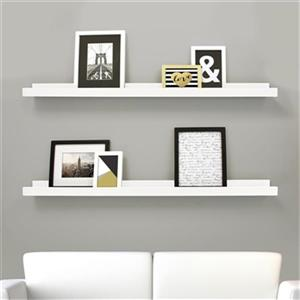Nexxt Designs White Edge Picture Frame Ledge Shelf (Set of 2)