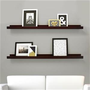 Nexxt Design Espresso Edge Picture Frame Ledge Shelf (Set of 2)