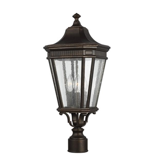 Feiss Cotswold Lane 3-Light Grecian Bronze Post Lantern