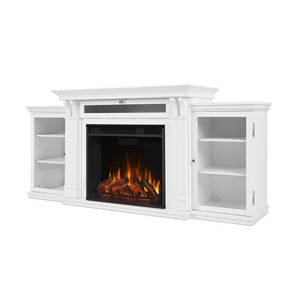 Foyer-divertissment «Calie» Real Flame 30,50 po x 67 po blanc