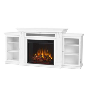 Real Flame Calie 30.50-in x 67-in White Entertainment Center Electric Fireplace