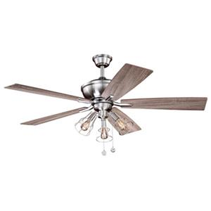 Cascadia Lighting Clybourn 52-in Driftwood/Walnut Ceiling Fan