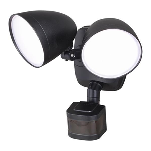 Cascadia Tau Dualux Black LED Motion Sensor Dusk to Dawn Security Light