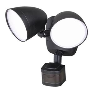 Cascadia Lighting Black Tau Dualux LED Security Light