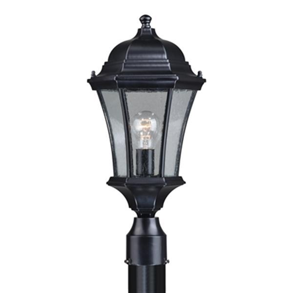 Cascadia Aberdeen Aluminum 1-Light Black Outdoor Post Light