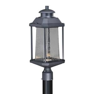 Cascadia Freeport 1-Light LED Dusk to Dawn Black Outdoor Post-Light
