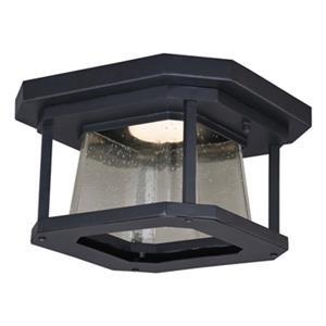 Cascadia Freeport LED Black Outdoor Flush Mount Ceiling Light