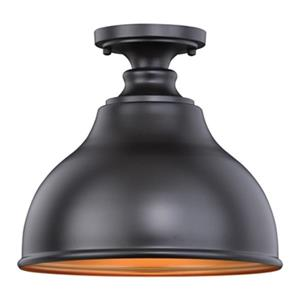 Cascadia Delano Bronze Farmhouse Barn Outdoor Flush Ceiling Light