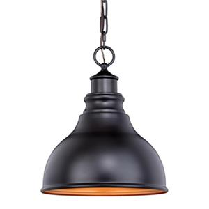 Cascadia Delano 1-Light Bronze Gold Farmhouse Outdoor Barn Pendant Light