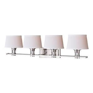 Cascadia Lighting Ritz Satin Nickel 4-Light Bathroom Vanity Light