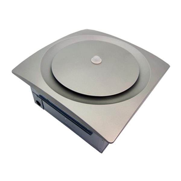 Aero Pure 140 CFM Satin Nickel Continuous Run Multiple Speed Bathroom Fan