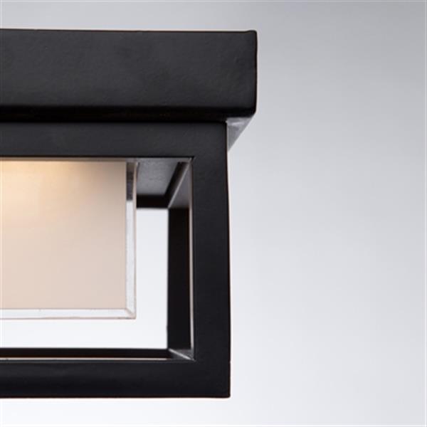 Artcraft Lighting Overbrook Black LED Outdoor Flush Mount Ceiling Light