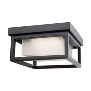 Artcraft Lighting Overbrook Black LED Outdoor Flush Mount Ceiling Light