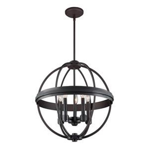 Artcraft Lighting Roxbury 19.5-in Oil Rubbed Bronze 5-Light Globe Chandelier