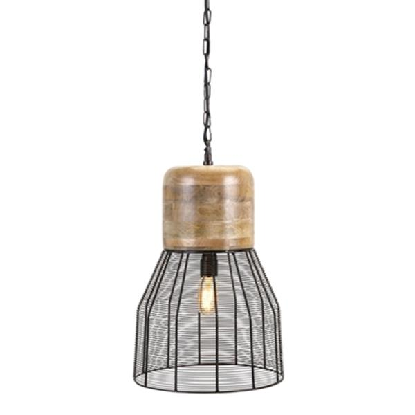 IMAX Worldwide Trisha Yearwood Collection 12-in x 20-in Black Inigo Mini Pendant Light