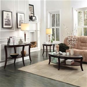 Homelegance Pierre 3 pc Rich Espresso Coffee Table Set
