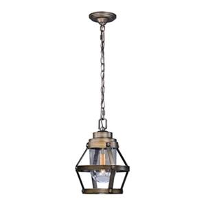 Cascadia Lighting Bruges Collection 9-in x 12.75-in Parisian Bronze Pendant Light