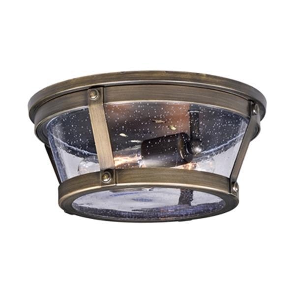 Cascadia Bruges Bronze Round Outdoor Flush Mount Ceiling Light