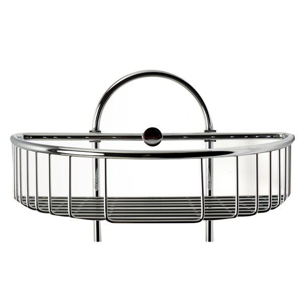 ALFI Brand Wall Mounted Double Basket Shower Shelf