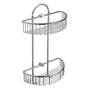 ALFI Brand Wall Mounted Double Basket Shower Shelf