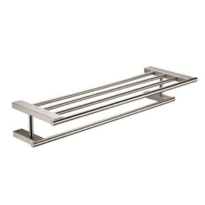 ALFI Brand 26-in Brushed Nickel Towel Bar and Shelf
