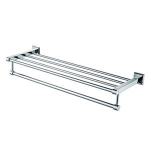 ALFI Brand 24-in Chrome Towel Bar and Shelf
