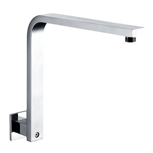 ALFI Brand 12-in Square Raised Wall-Mounted Shower Arm,AB12G
