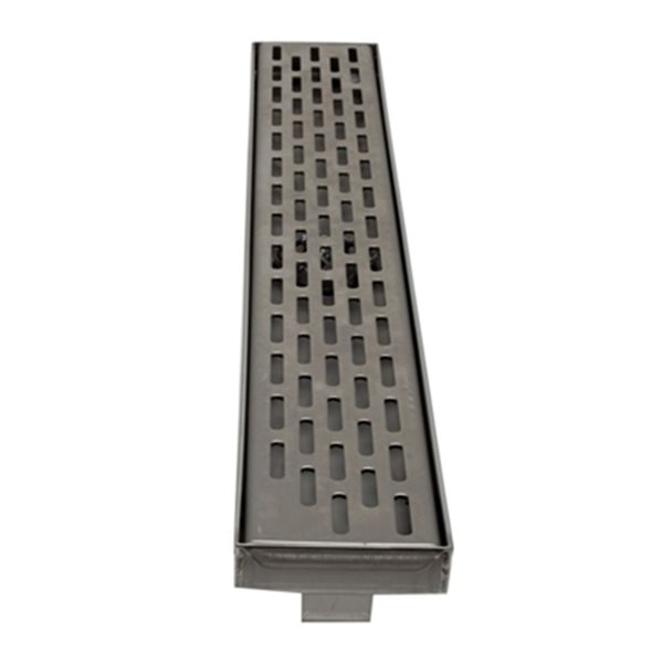 ALFI Brand Modern Stainless Steel Linear Shower Drain with Groove Holes