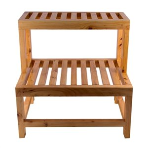 ALFI Brand 20-in Double Wooden Stepping Stool