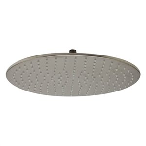 ALFI Brand 15.75-in Brushed Nickel Round Multicolor LED Rain Shower Head