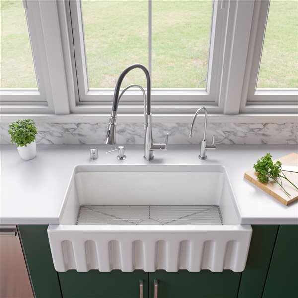 ALFI Brand 28.5-in x 14-in Stainless Steel Kitchen Sink Grid for AB3318SB