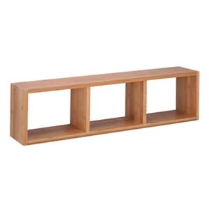 Honey Can Do Bamboo Triple Cube Wall Shelf