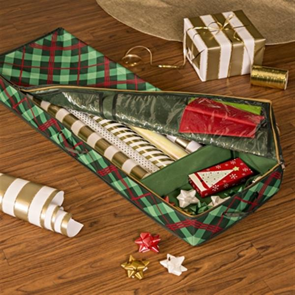 Honey Can Do 13.5-in Green Rectangular Ornament Gift Wrap Organizer