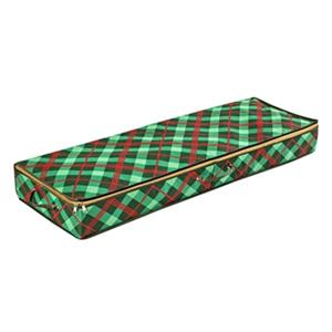 Honey Can Do 13.5-in Green Rectangular Ornament Gift Wrap Organizer