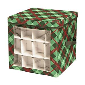 Honey Can Do 15-in Green Ornament Storage Cube