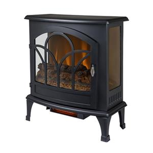 Muskoka Curved Front 28.32-in x 25-in Black Panoramic Stove
