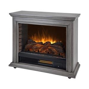 Muskoka Sheridan Mobile 27.25-in x 31.75-in Grey Infrared Electric Fireplace
