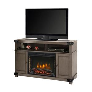 Muskoka Hudson Media 32.5-in x 53-in Grey Electric Fireplace