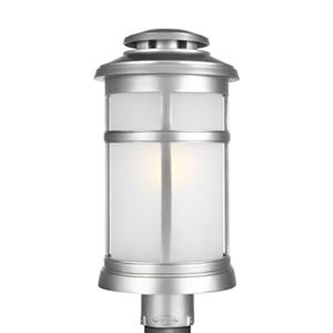 Feiss Newport Painted Brushed Steel Post Lantern.