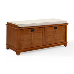 Crosley Furniture Adler Warm Oak Entryway Storage Bench