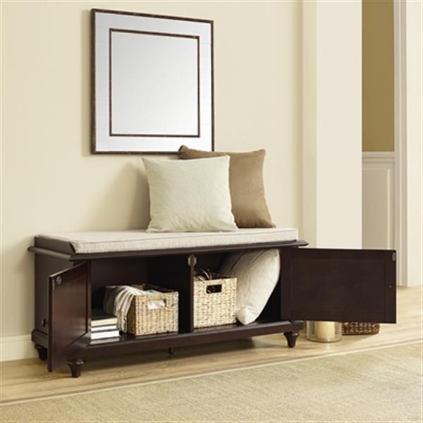 Crosley Furniture Palmetto Espresso Entryway Bench