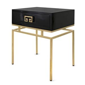 IMAX Worldwide Dakila 18-in x 24-in x 38-in Gold/Black Accent Table