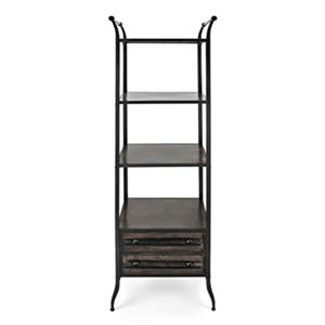 IMAX Worldwide 71.50-in x 23.5-in x 15.75-in Black Oscar Metal Bookshelf
